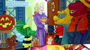 Book Characters For Halloween by Reading Barney U0027s Trick Or Treat Bj U0026 Baby Bop Are Ready For
