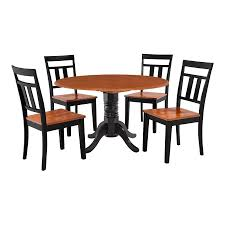 M&D Furniture Burlington Black/Cherry Dining Set With Round Dining ... Shop Plainville Black Cherry Wooden Seat Ding Chair Set Of 2 Parawood Fniture Parfait The Simple Wood British Isles Napoleon Side Woodstock Mattress 30 Beautiful Photo Room Blackcherry Finish Rubberwood Table With 4 Terrific Decoration Using Rectangular Dark Wood Ding Chair Black Cherry Florida Ft Lauderdale Miami Dch1001fset2 Chairs By Safavieh Circle Ingrid