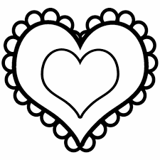 Simple Drawing Heart Picture Printable Coloring Pages All Page
