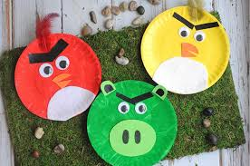DIY Angry Birds From Paper Plates Via Craftcreatecook