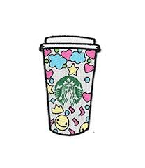 Starbucks Cute Kawaii Coffee Cup Iron On Patch 35quot High And 225quot