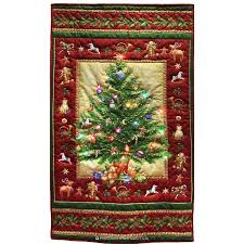 The Grinch Christmas Tree Star by A Quilt That Lights Up Old Time Christmas Tree Panel Kit