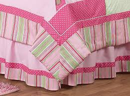Pink and Green Girls Jungle Kids Bedding 3pc Full Queen Set