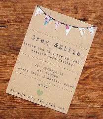 Rustic Vintage Bunting Wedding Invitation