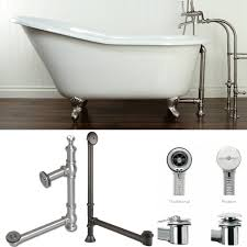Bathtub Side Water Stopper by Plumbing How To Drain A Free Standing Bathtub Home Improvement