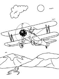 Plane Coloring Pages For Boys