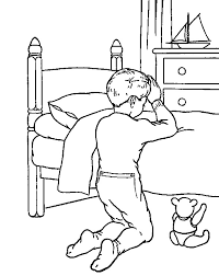 Praying Child Coloring Page Children To God Pages For Dox