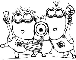 Minion Coloring Pages And Christmas
