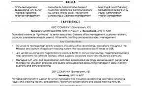 Government Administration Resume Examples Lovely Secretary Sample
