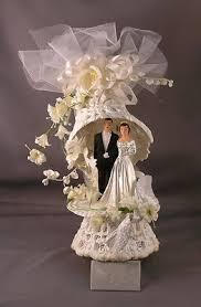 Vintage 1950s Ornate Wedding Cake Topper EBay