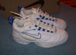 Vintage Nike Edge Trainer White Leather Athletic Shoes 2 New