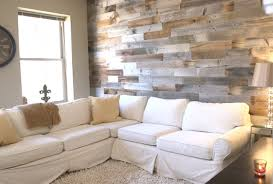 Reclaimed Wood Wall In Urban Apartment Rustic Living Room