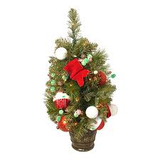 Northlight 2 Ft Pre Lit Whimsical Slim Artificial Christmas Tree With 20 Constant White