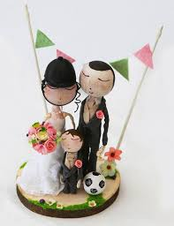 Cute Rustic Bride And Groom Personalised Wooden Wedding Cake Topper