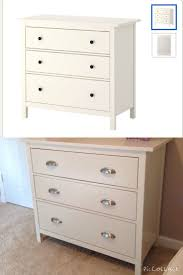 Ikea Nyvoll Dresser Light Grey by Before And After Updated Knobs Hardware Ikea Hemnes 3 Drawer