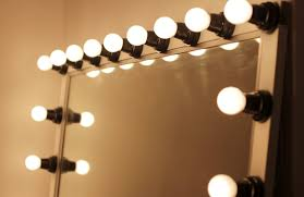 decorations makeup vanity table design with mirror lighting