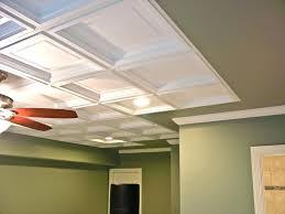 wallpaper on ceiling tiles tin tile paintable magazineworld site