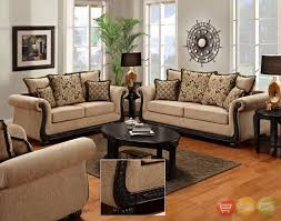 Delray Traditional Sofa Love Seat Living Room Furniture Set Taupe Chenille NEW