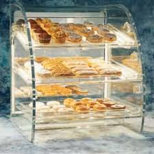 Countertop Bakery Display Case Curved Front With Accessories