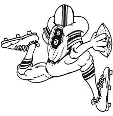 Football Colouring Pages Printable Uk Coloring Picture Quarterback Running With Ball