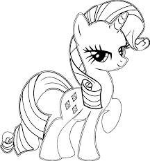 Rarity Coloring Pages Page For My Little Pony Home Line Drawings