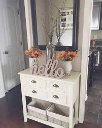 White Beadboard Console Table In Kitchen