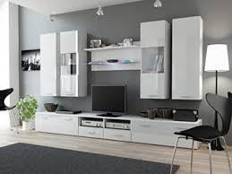 wohnwand ii hochglanz wohnzimmer tv wand farbe weiß matt weiß hochglanz