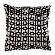 casa padrino luxus kissen 2er set 50 x h 50 cm schwarz weiß wohnzimmer accessoires