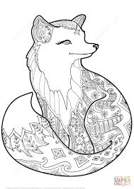 Click The Zentangle Fox Coloring Pages
