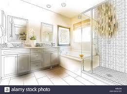 benutzerdefinierte master badezimmer design zeichnen mit