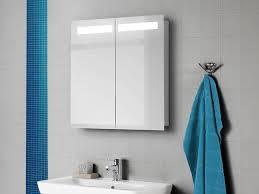 scanbad multo spiegelschrank mit led leisten oben