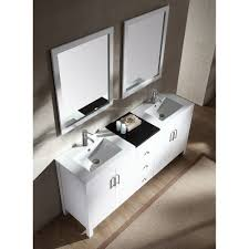 Double Sink Vanity Top by Ariel Bath K072d Wht Hanson 72 Double Sink Vanity Set In White