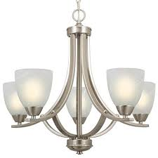 Kira Home Weston 24quot Contemporary 5 Light Large Chandelier Alabaster Glass Shade