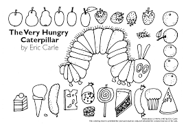 Coloring Page Very Hungry Caterpillar