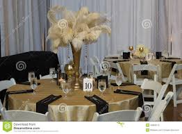 Wedding Table With Gold Accessories Editorial Stock Image of