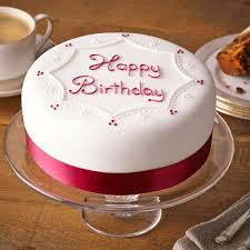 Soft Iced Happy Birthday Cake