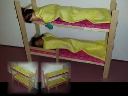 how to make doll bunk bed youtube