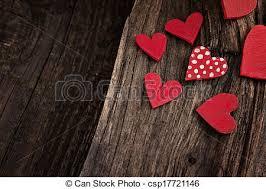 Valentines Day Background Vintage Handmade Stock
