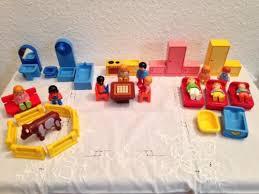 playmobil 1990 badezimmer küche schlafzimmer figuren 40 teile