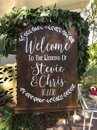 Welcome To The Wedding Of Decal Decor Established Rustic Sign Custom