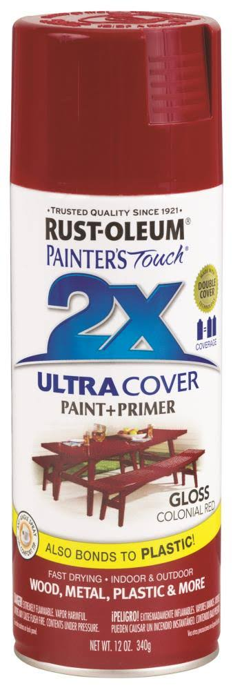 Rust-Oleum Painter's Touch 2X General Purpose Spray Paint - Gloss Colonial Red, 12oz