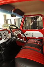 100 1964 Ford Truck Restored Interior Of A Step Side F100 Pickups