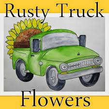 Rusty Truck Flowers Hoping For A Blooming 2015 At The Flower Farm