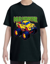 100 Monster Truck Kids Mud Kids Tshirt Childrens Tee Shirt Custom Etsy