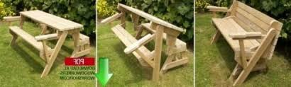 furniture table and chair outdoor convertible bench long wooden