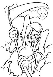 Coloring Pages Scary Halloween Pictures To Color For Kids Adults