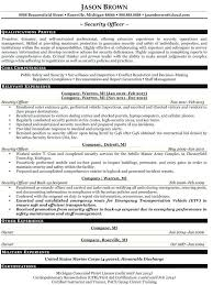 Law Enforcement Resume Examples Police
