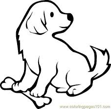 Realistic Dog Coloring Pages Puppy For Kids Image Of Cute