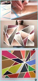 DIY Geometric Tape Painting Canvas Art Instruction