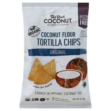 The Real Coconut Coconut Flour Tortilla Chips Original 5.5 oz.